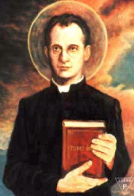 detail of a painting of Blessed Edward Grzymala, date and artist unknown; swiped from Santi e Beati