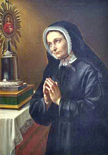 portrait of Blessed Elisabetta Canori Mora, artist unknown, c.1855; swiped from Wikimedia Commons