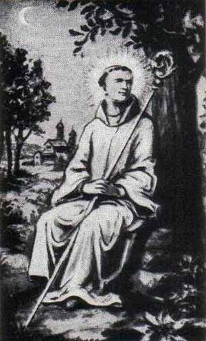 illustration of Blessed Ero di Armenteira, date and artist unknown; swiped from Santi e Beati; click for soure image