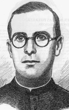 detail of an illustration of Blessed Fèlix Vivet Trabal, date and artist unknown; swiped from Santi e Beati