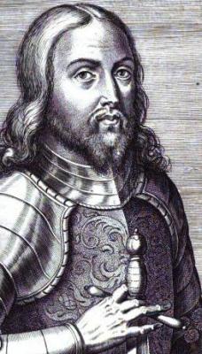 illustration of Blessed Ferdinand of Portugal, by Manuel Soeiro, from Anacephalaeoses id est Summa capita actorum regum Lusitaniae, 1621