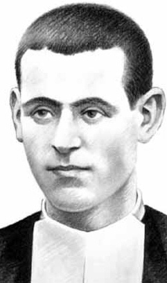 detail of an illustration of Blessed Francisco Lahoz Moliner, date and artist unknown; swiped from Santi e Beati