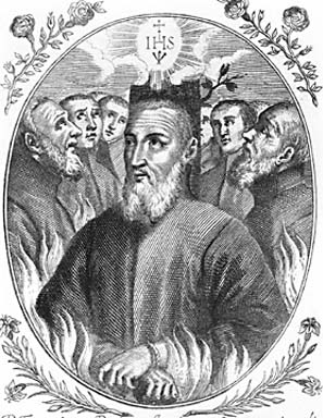 illustration of Blessed Giovanni Battista Zola, date and artist unknown; swiped from Santi e Beati; click for source image