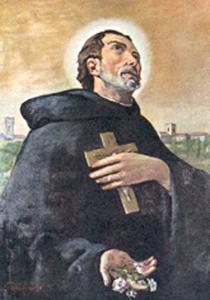 detail of a portrait of Blessed Girolamo da Recanati, date and artist unknown; swiped from Santi e Beati