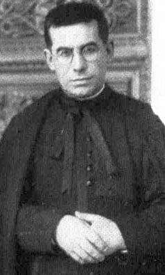detail of a photograph of Blessed Giuseppe Giaccardo, date, photographer and location unknown; swiped from Santi e Beati