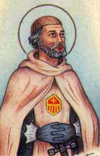 detail of an antique Italian holy card of Blessed Henry of Austria by Bertoni, date unknown; swiped from Santi e Beati