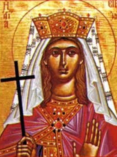 detail of an icon of Blessed Irene of Hungary, date and artist unknown; swiped from Santi e Beati