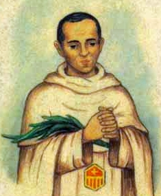 detail of an Italian holy card of Blessed Jaume Codina Casellas by Bertoni, date unknown; swiped from Santi e Beati