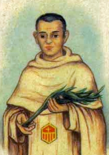 detail of an Italian holy card of Blessed José Trallero Lou by Bertoni, date unknown; swiped from Santi e Beati