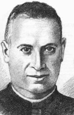 detail of an illustration of Blessed Josep Batalla Parramon, date and artist unknown; swiped from Santi e Beati