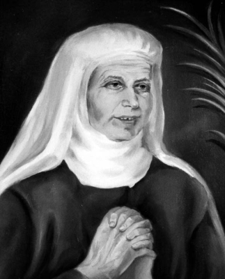 detail of a portrait of Blessed Josepa Panyella Doménech, date and artist unknown; swiped from Santi e Beati; click for source image