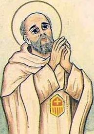 detail from an Italian holy card of Blessed Juan de Prunera by Bertoni, date unknown; swiped from Santi e Beati