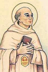 detail of an antique Italian holy card of Blessed Lorenzo della Pietà by Bertoni, date unknown; swiped from Santi e Beati