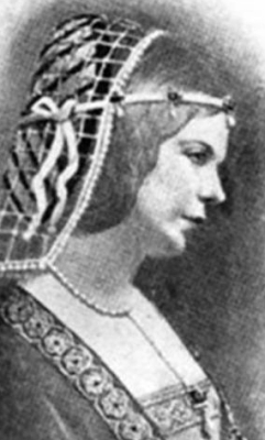 19th century illustration of Blessed Louise of Savoy,