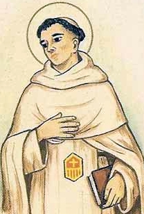 detail of an antique Italian holy card of Blessed Luigi Conciso by Bertoni, date unknown; swiped from Santi e Beati