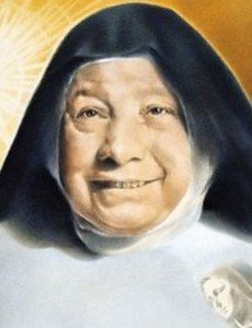 detail of the beatification portrait of Blessed Maria Crocifissa Curcio; swiped off the Vatican web site