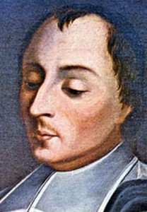 detail of a painting of Blessed Nicolas Roland, date unknown, artist unknown, Hotel de La Salle, Reims