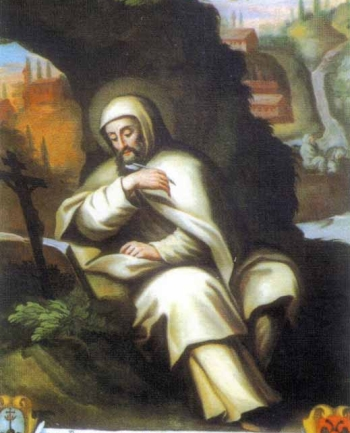 detail of a 17th century painting of Blessed Paolo Giustiniani, artist unknown; swiped from Santi e Beati