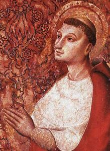 etail from 'The Vision of Peter of Luxembourg' by the Master of the Avignon School, c.1450, 78 x 58 cm, Musée Calvet, Avignon, France