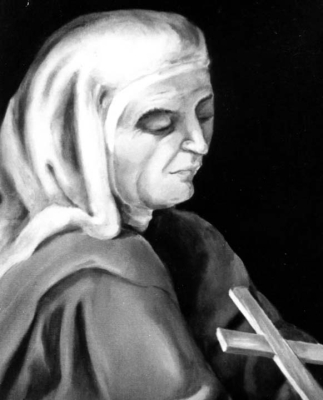 detail of a portrait of Blessed Teresa Ríus Casas, date and artist unknown; swiped from Santi e Beati; click for source image