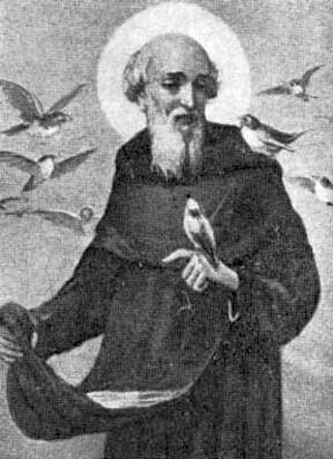 detail of an illustration of Blessed Ubaldo Adimari, date and artist unknown; swiped from Santi e Beati