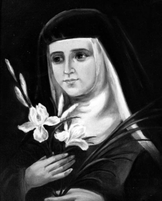 detail of a portrait of Blessed Vicenta Jordá Martí, date and artist unknown; swiped from Santi e Beati; click for source image
