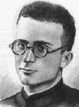 detail of an illustration of Blessed Zacarías Abadía Buesa, date and artist unknown; swiped from Santi e Beati