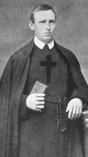 photograph of an unidentified Brother of Mercy from the book Monasteries and Religious Houses of Great Britain and Ireland, 1903, photographer unknown