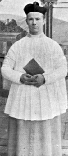 photograph of an unidentified Canon Regular of the Lateran from the book Monasteries and Religious Houses of Great Britain and Ireland, 1903, photographer unknown