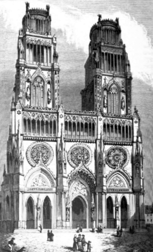 illustration of the Cathedral of Orleans, France; from Illustrated Catholic Family Annual, 1870, artist unknown