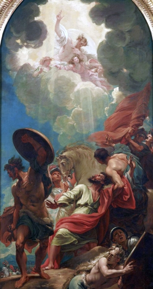 detail of the painting 'The Conversion of Saint Paul'; by Benjamin West, c.1786; Dallas Museum of Art, Dallas,
