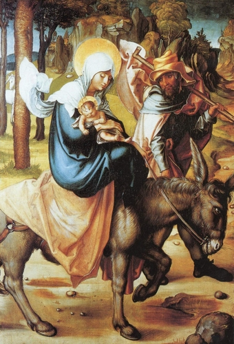 detail of the painting 'The Flight into Egypt' by Albrecht Durer, c.1495