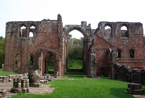 the ruins of Furness Abbey; photographed on 28 April 2007 by Francis Bijl; swiped from Wikimedia Commons