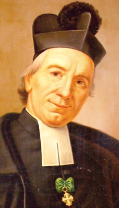 detail of a painting of Saint Josep