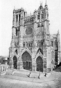 the cathedral of Amiens, France, and example of French Gothic