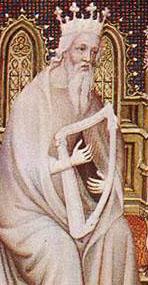 detail from an illumination on parchment by André Beauneveu, 1402, Bibliothèque Nationale, Paris