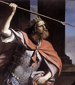 detail of 'Saul Attacking David' by Guercino, 1646, Galleria Nazionale d'Arte Antica, Rome, Italy