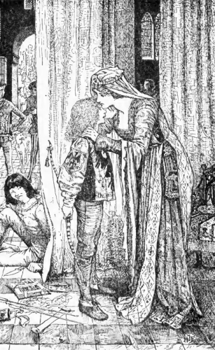 Blanche, the Queen-Mother, kissed Herman