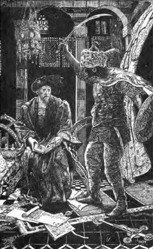 Saint Louis Threatened by a Saracen Soldier