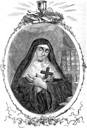 illustration of Mother Mary of the Incarnation, artist unknown, printed in the 1873 Illustrated Catholic Family Annual