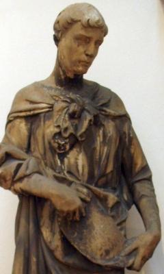 detail of a statue of Obadiah the Prophet, by Nanni di Bartolo, Museo dell'Opera del Duomo, Firenze, Italy