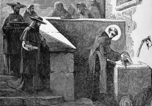 Pictorial Lives of the Saints illustration of Saint Bonaventure