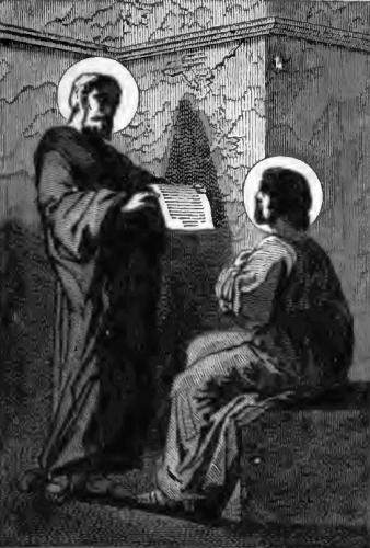 Pictorial Lives of the Saints illustration for Saint Delphinus, Bishop