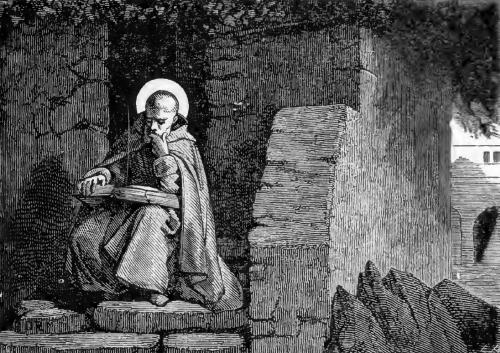 Pictorial Lives of the Saints illustration for Saint Ephrem, Deacon