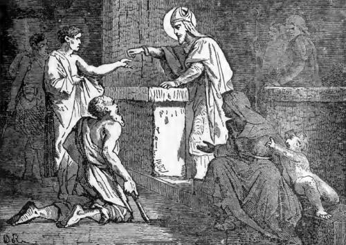 Pictorial Lives of the Saints illustration for Saint Germanus, Bishop