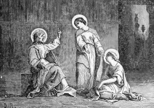 Pictorial Lives of the Saints illustration of Saint Martha, Virgin