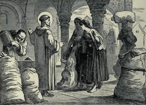 Pictorial Lives of the Saints illustration for Saint Mesmin