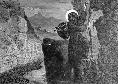 Pictorial Lives of the Saints illustration for Saint Sabas, Abbot