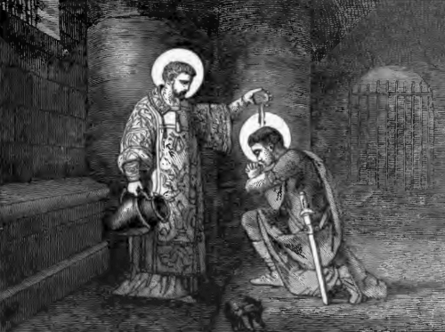 Pictorial Lives of the Saints illustration for Saints Lawrence and Romanus, Martyrs