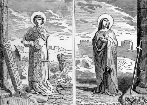 Pictorial Lives of the Saints illustration for Saints Tiburtius and Susanna, Martyrs